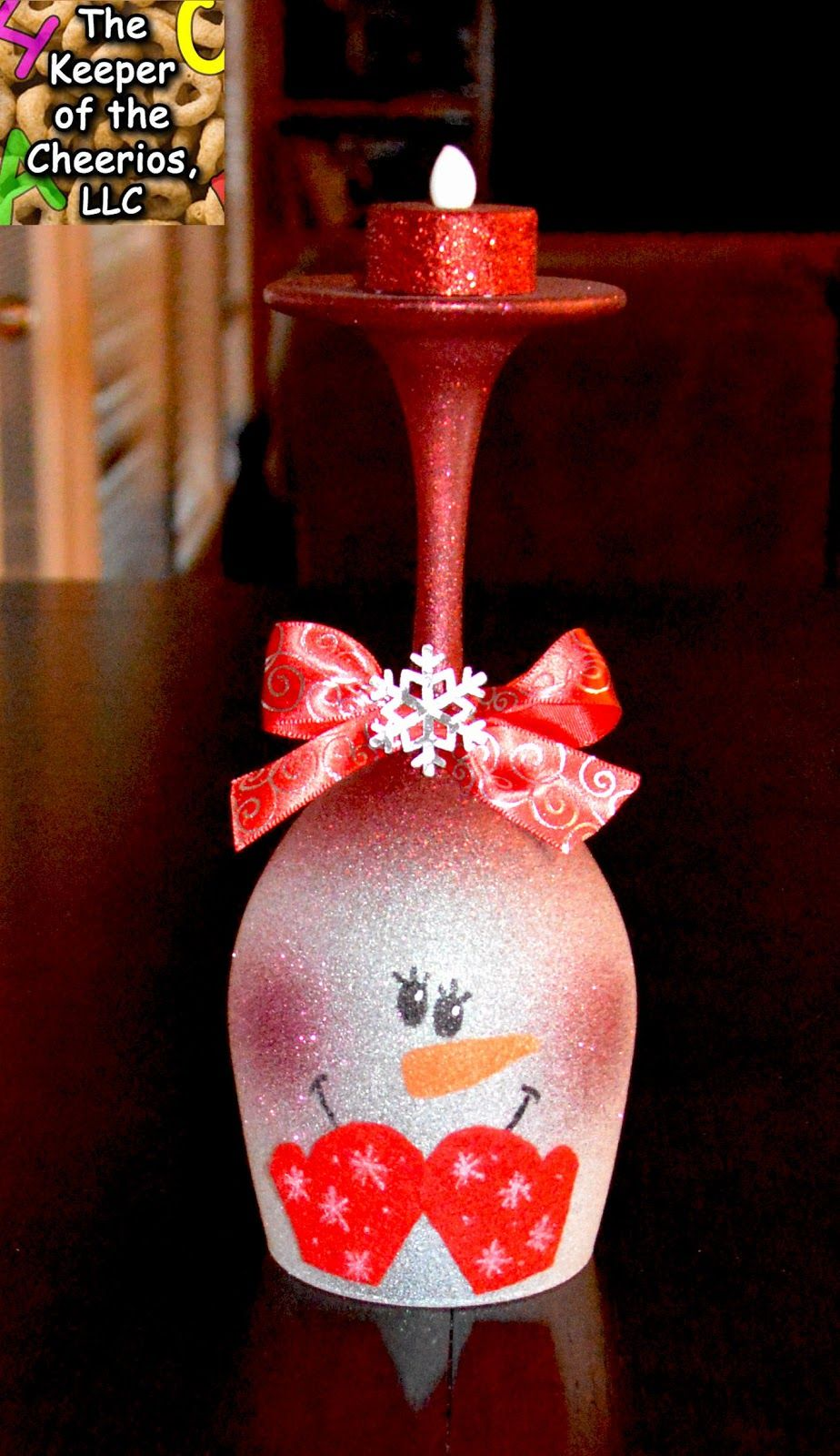 Snowman Wine Glass Candle Holder Christmas Wine Glasses Wine