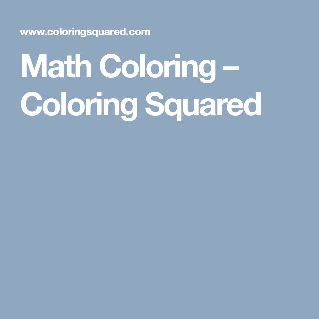 Free Math Coloring Pages - Pixel Art and Math | Free math, Maths and ...
