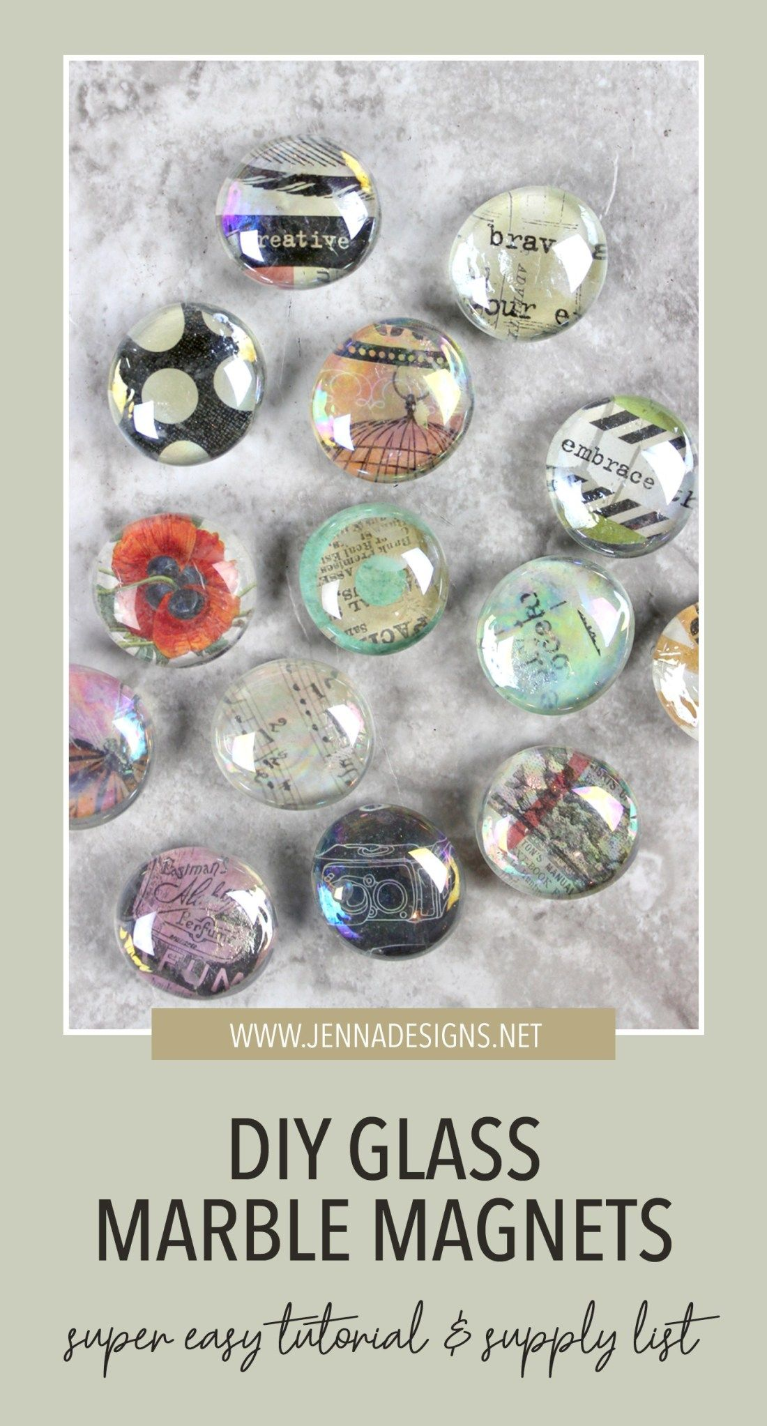 Photo of DIY glass marble magnets | Jennadesigns
