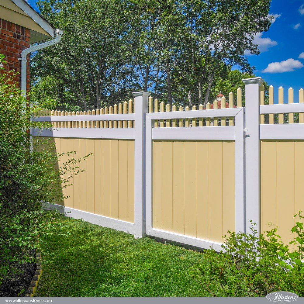 Awesome Illusions PVC Vinyl Fence Ideas and Images | Privacy fence ...