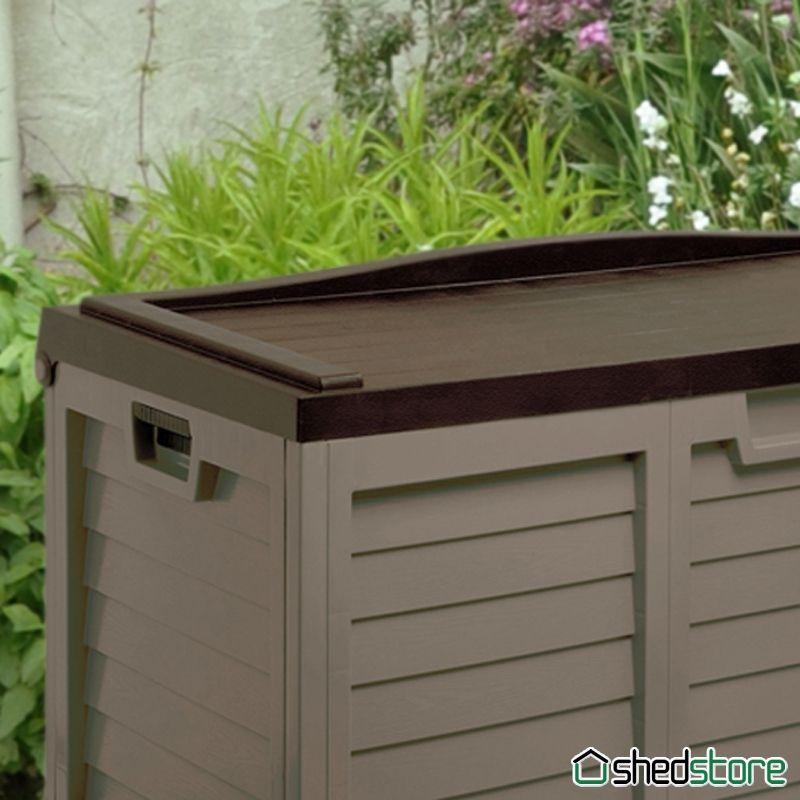 5 X 2 Sit On Plastic Storage Box With Lid By Store Plus Garden Storage Outdoor Storage Boxes Plastic Box Storage