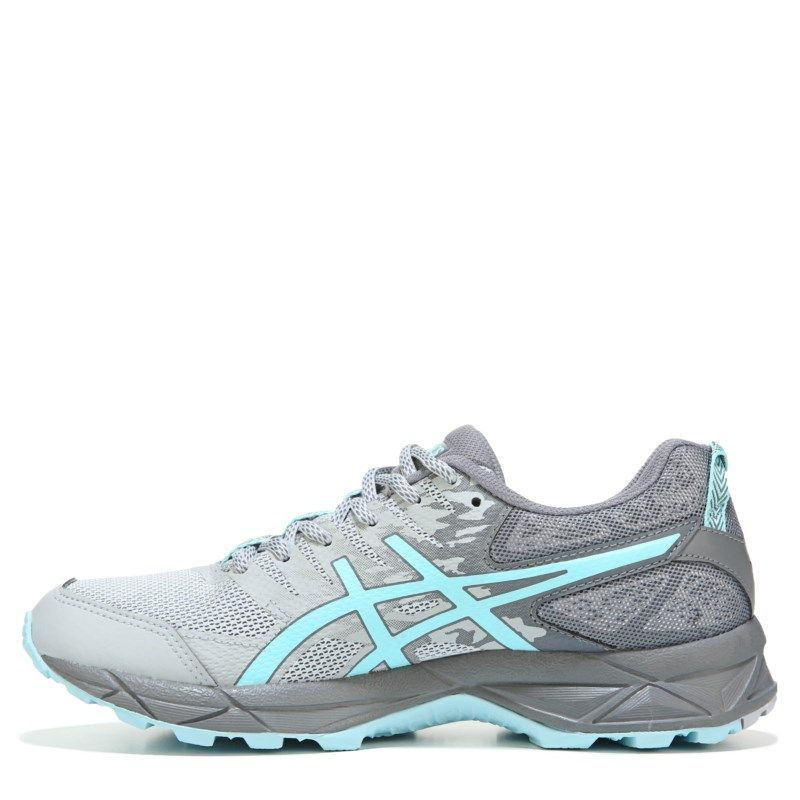 Womens ASICS GELSonoma 3 Wide Trail Running Shoe GreyBlue