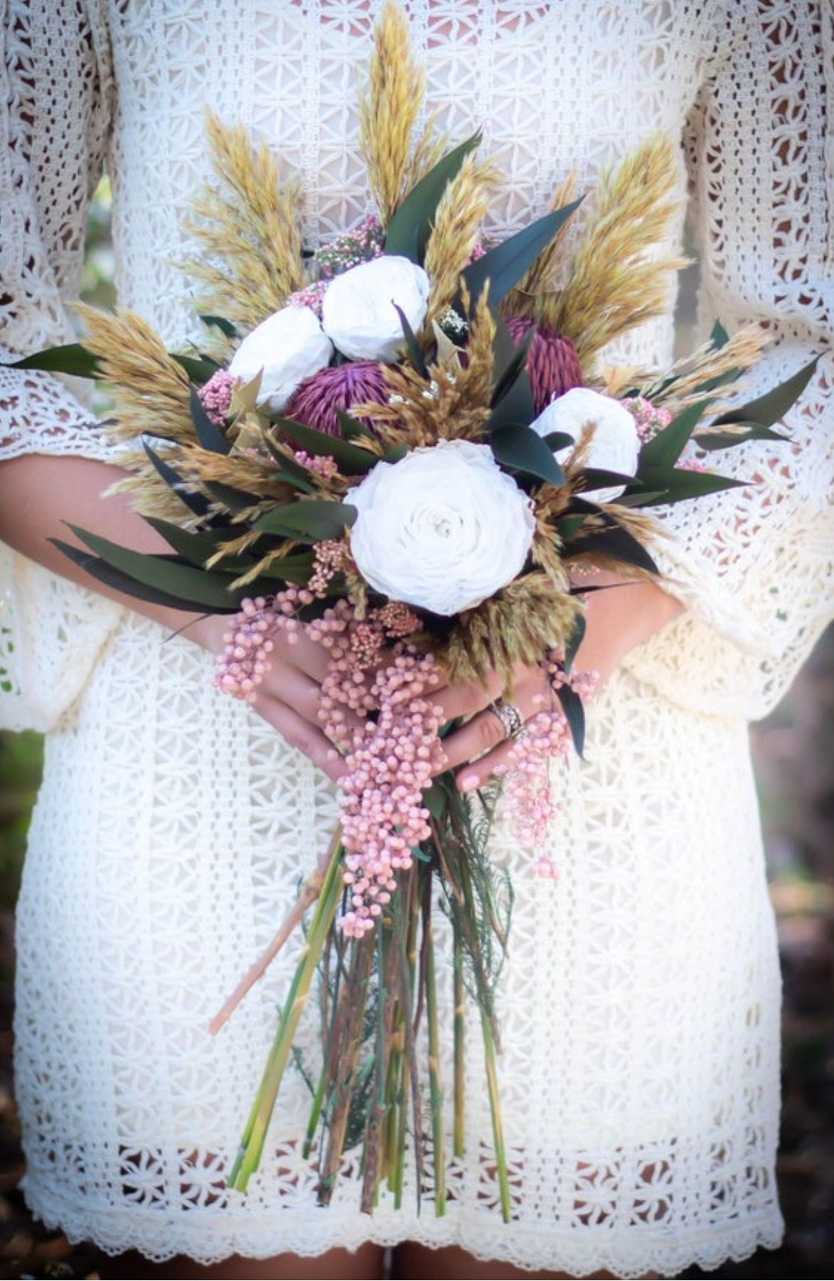 Lovely unique dried flower bouquet by Pick a Bloom
