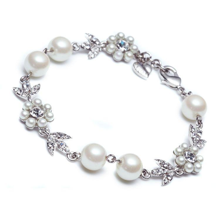 Bracelet Single Row   Leanne Crystal Pearl   Carolee.com