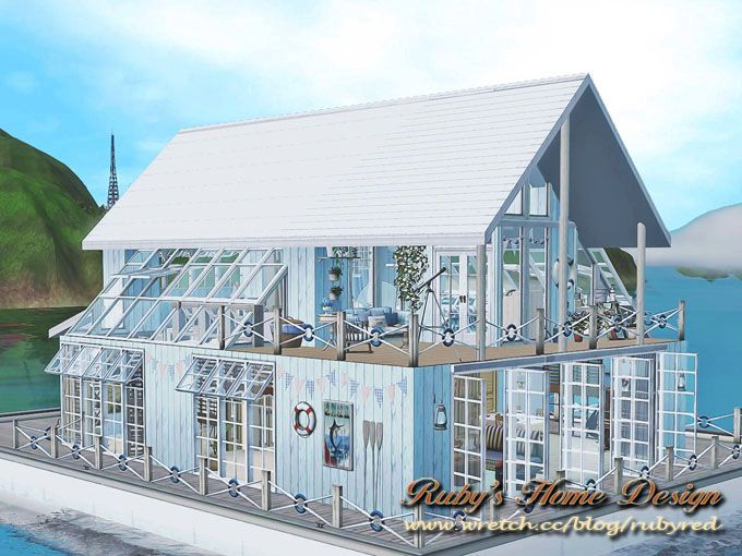 Sims3 Blue Houseboat 藍船屋 - Ruby\'s Home Design | sims 3 ...