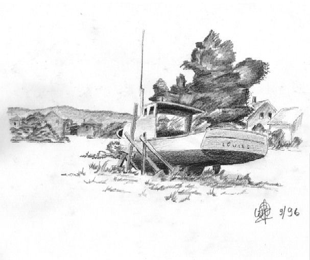 Old Boat sketch by W-Goldwing