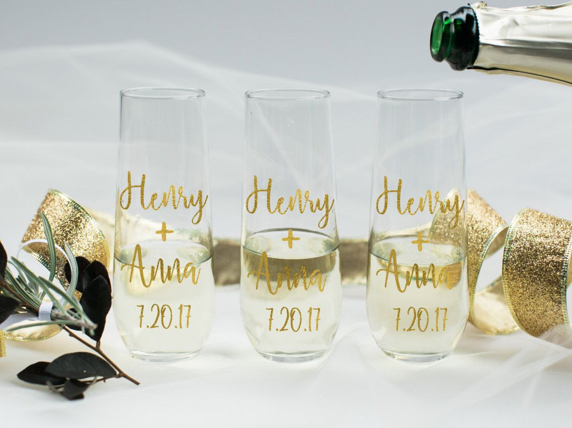 Personalized champagne glass/custom champagne glass/custom wine glass/personalized champagne glass/bride champagne glass/bachelorette glass by CatePaperCo on Etsy https://www.etsy.com/listing/505473027/personalized-champagne-glasscustom