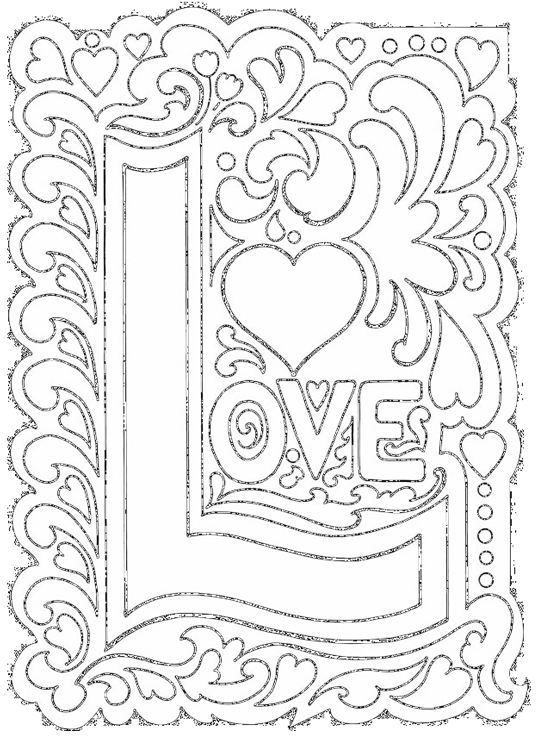 Love coloring sheet - click pic to open PDF | arts n crafts | Pinterest