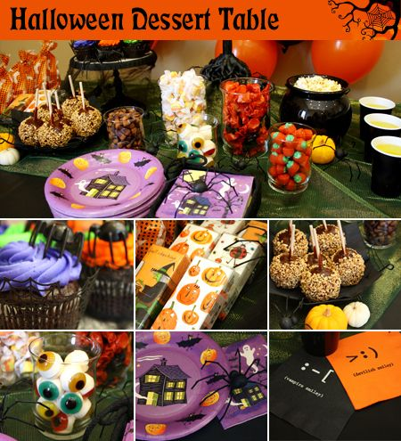 halloween food tables halloween party dessert table decorations