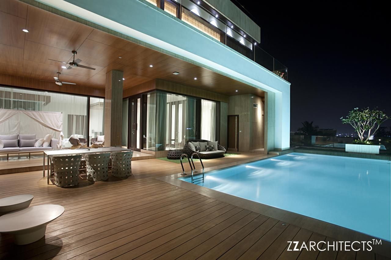 A Luxurious Villa Designed By ZZ Architects In An Upscale Neighborhood In  Hyderabad, India: