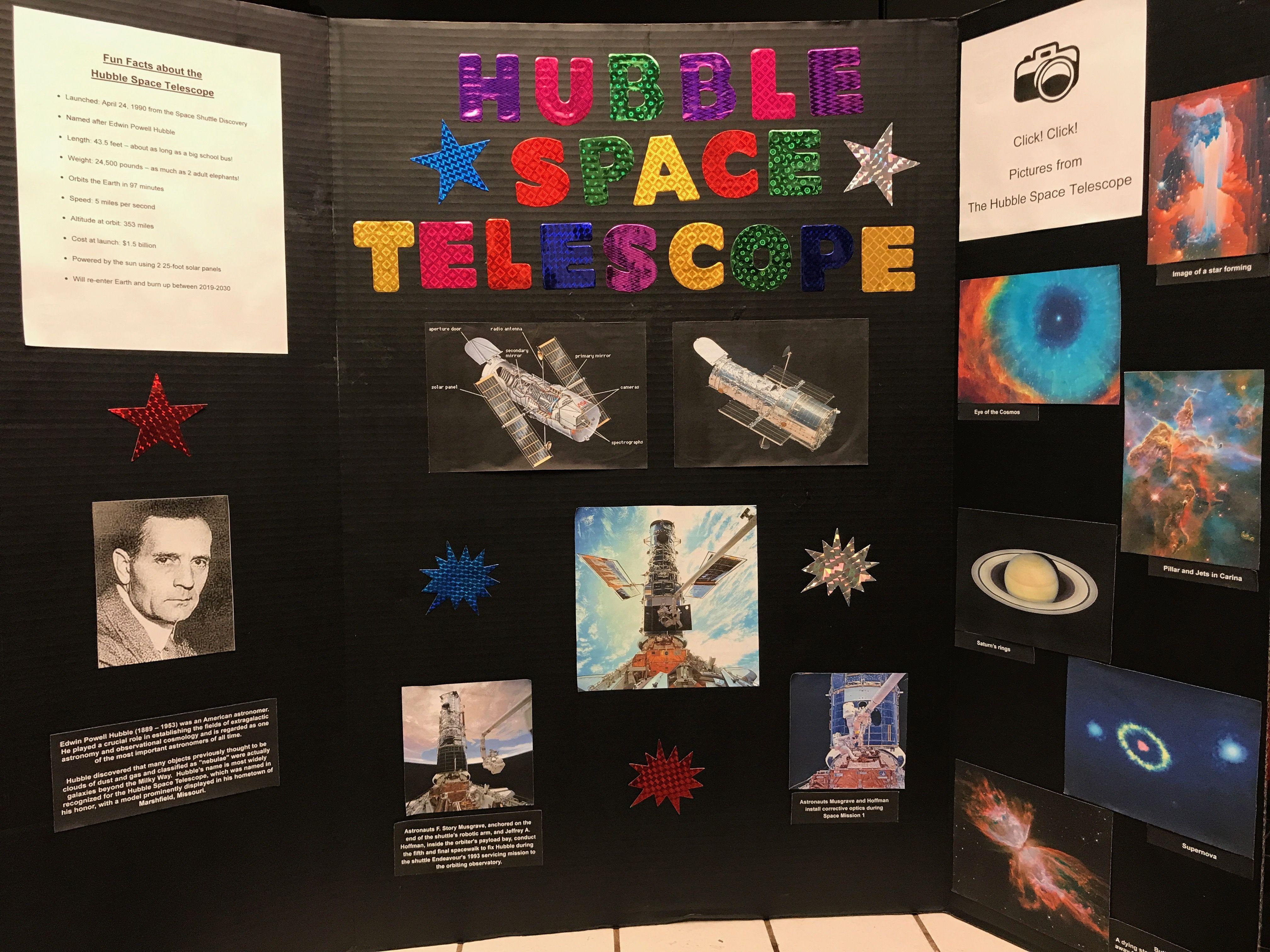 3rd Grade Hubble Space Telescope Display