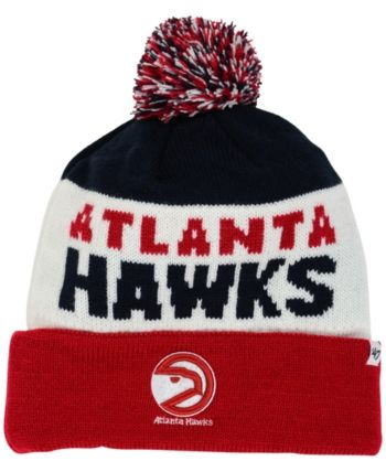 4582ffda6045cb 47 Brand Atlanta Hawks Crossblock Knit Hat - White Adjustable ...