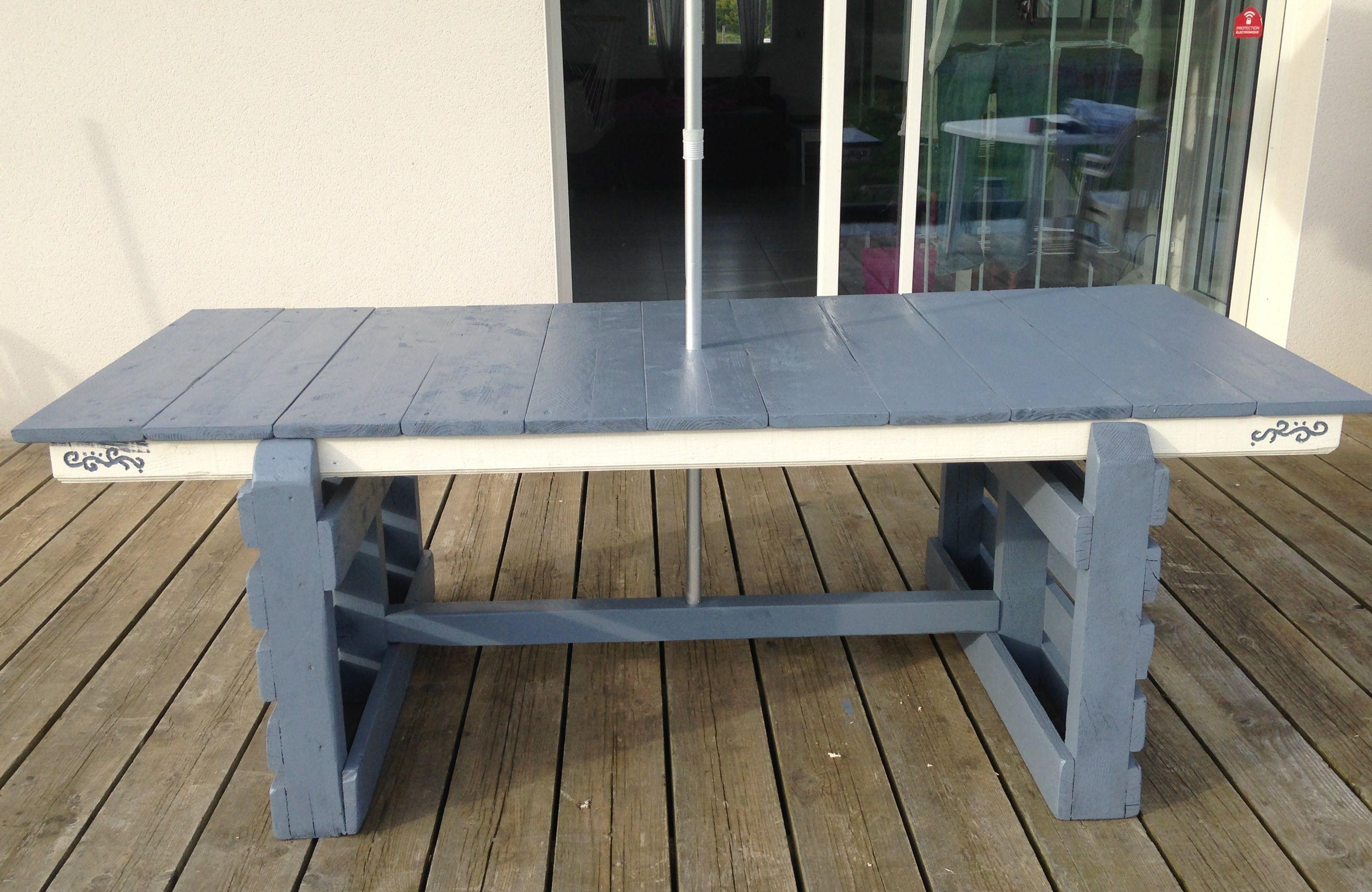TUTO création d\'une table de jardin, table d\'exterieur avec ...