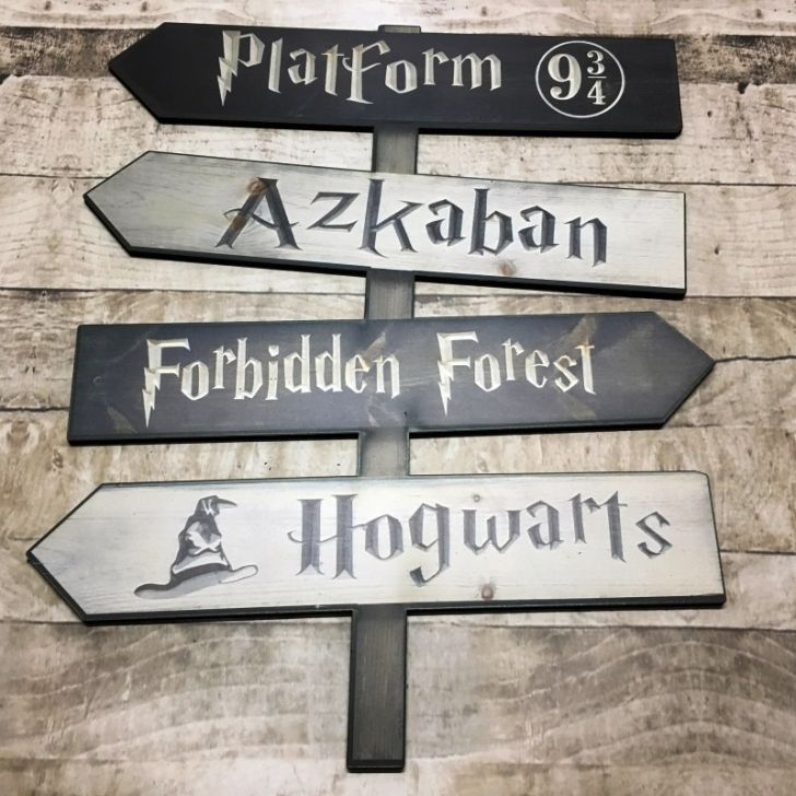 Placa Decorativa Harry Potter Placas Indicativas Em Mdf Em 2020
