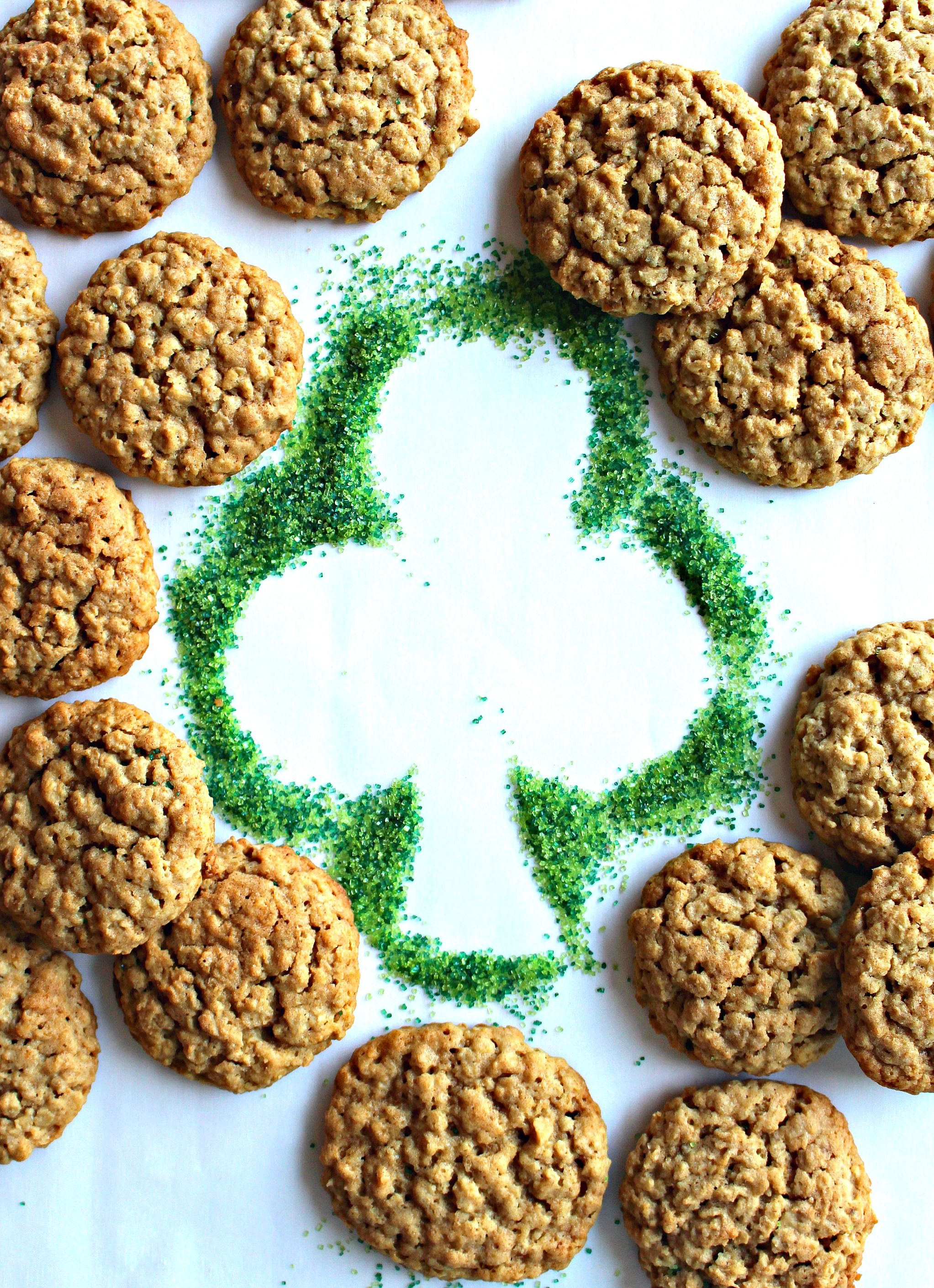 Unbelievably delicious Irish Oatmeal Cookies stand out from the rest! Chewy, nutty Irish oatmeal. Creamy, rich Irish butter. Warm toffee flavor. The BEST!