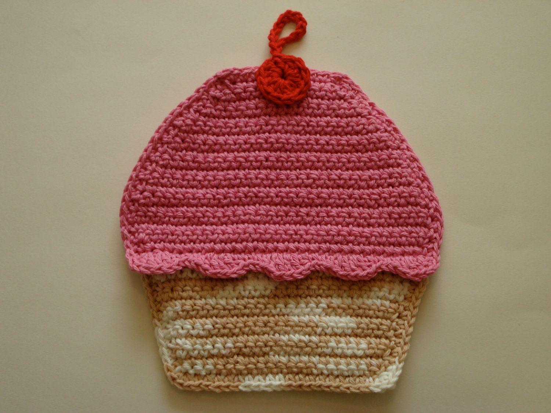 Cupcake Pot Holder   Crochet - Candies (Cupcake\\Donuts\\Cookies ...