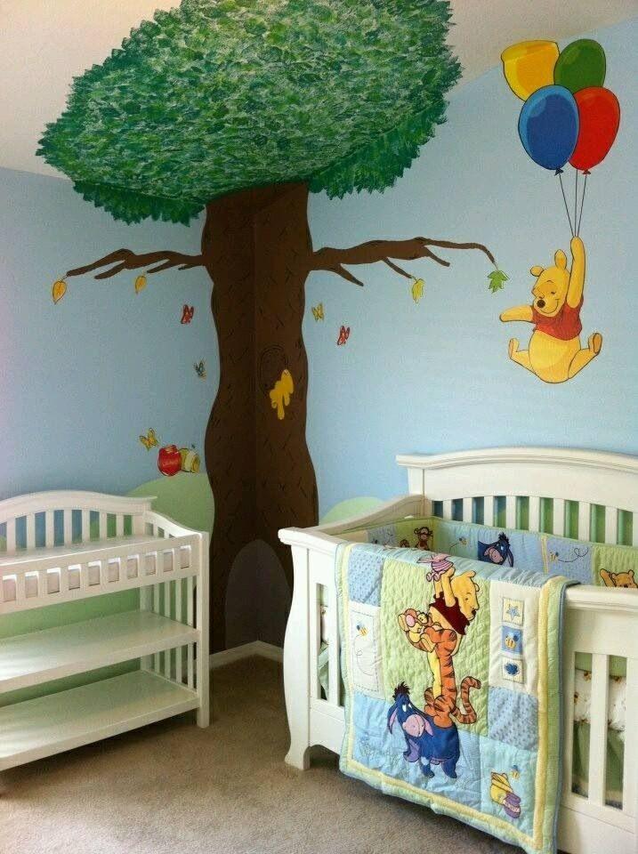 Winnie The Pooh Baby S Room Nursery Baby Room Baby Nursery Murals Winnie The Pooh Nursery