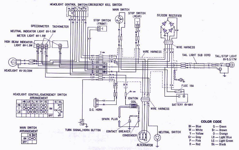 Honda Xl100 Electrical Wiring Diagram Panel Switch Wiring Electrical Wiring Diagram Wiring Diagram Engine Diagram