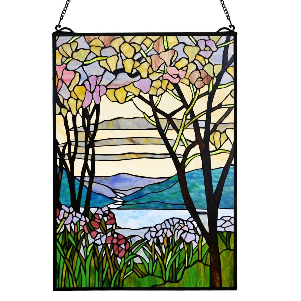 Dale Tiffany Aw13228 D9 9 Inch Waterfront Art Decor With Hand Blown Art Glass Is Made By The Brand Dale Tiffany Glass Wall Art Blown Glass Wall Art Glass Art