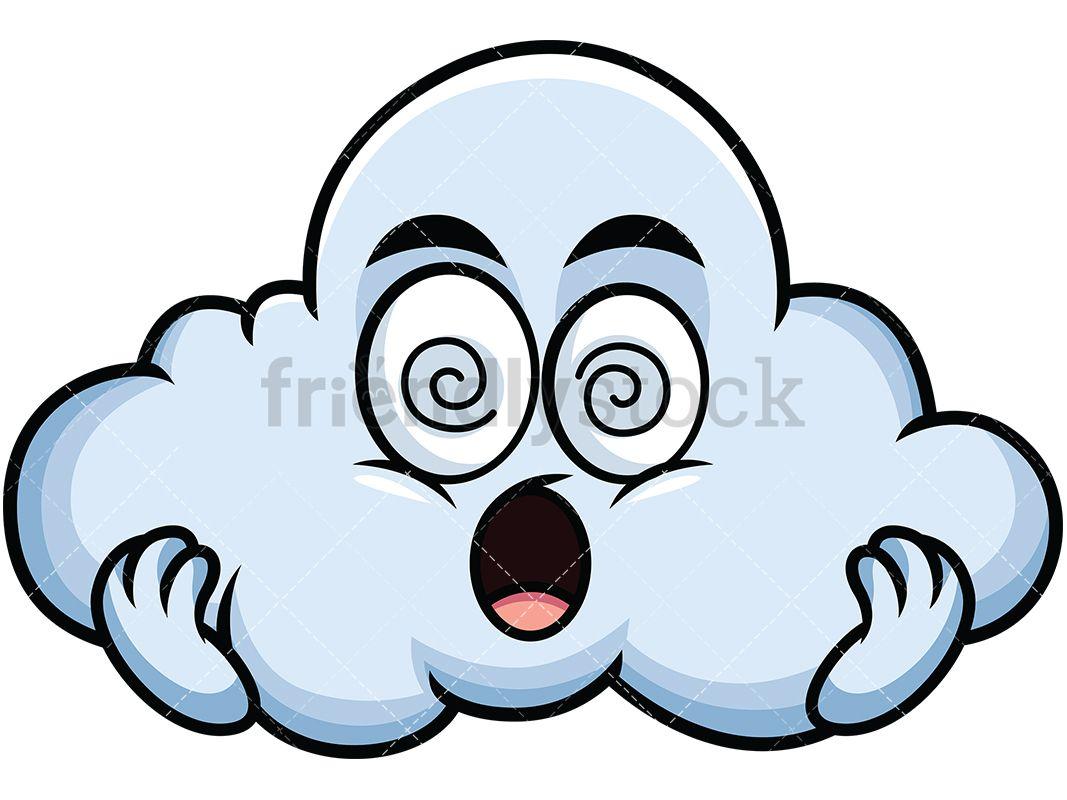 Dazed Cloud Emoji In 2019 Emoji Clipart Cloud Emoji Emoji