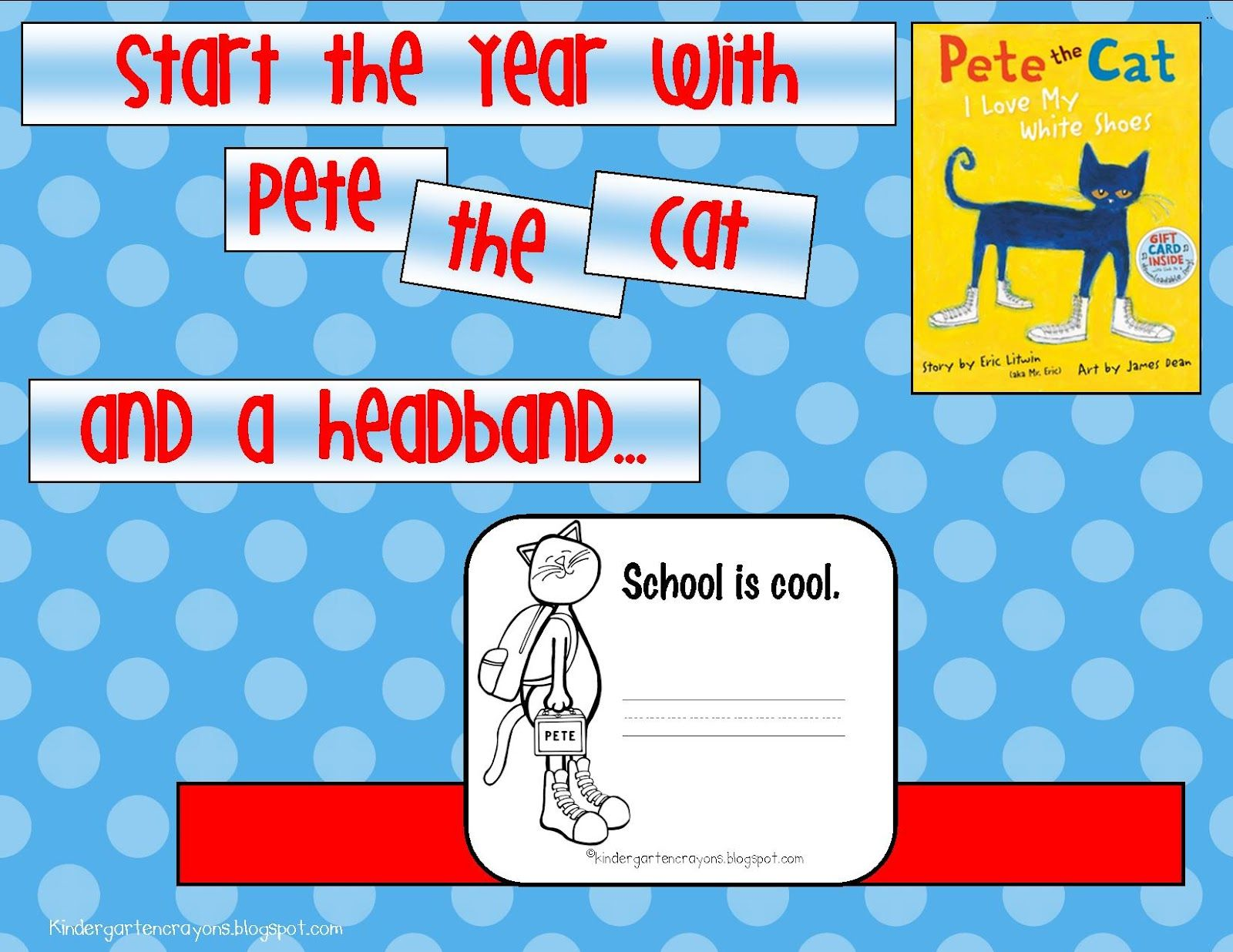 Kindergarten Crayons Are Your Reading Pete To Kick Off The Year Free Headband