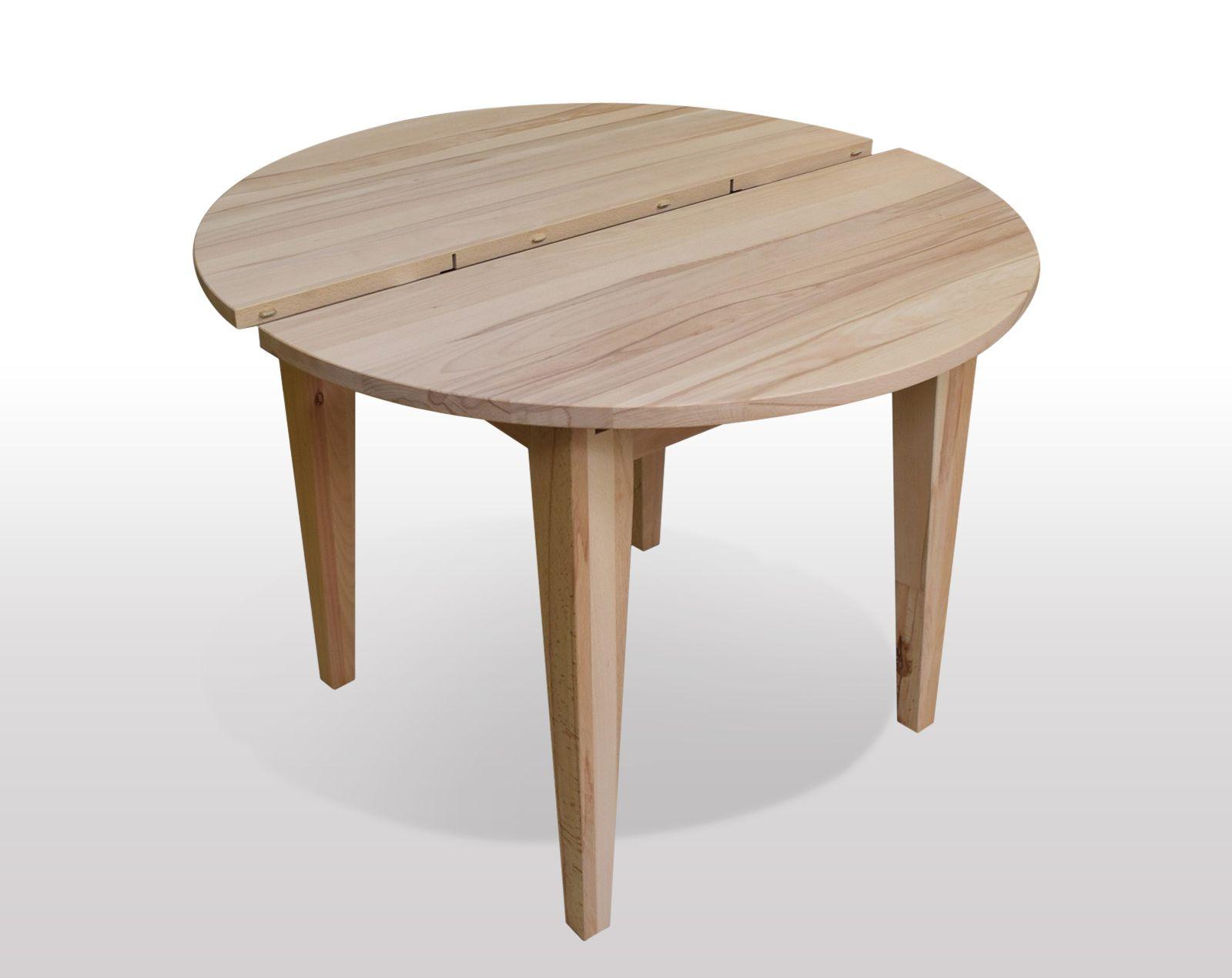 esstisch rund aus kernbuche massiv ausf hrung als 4 bein esstisch mit konischen beinen. Black Bedroom Furniture Sets. Home Design Ideas