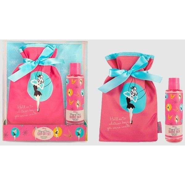 Disney Tinkerbell Bath U0026 Hot Water Bottle Gift Set (66 BRL) Via Polyvore  Featuring
