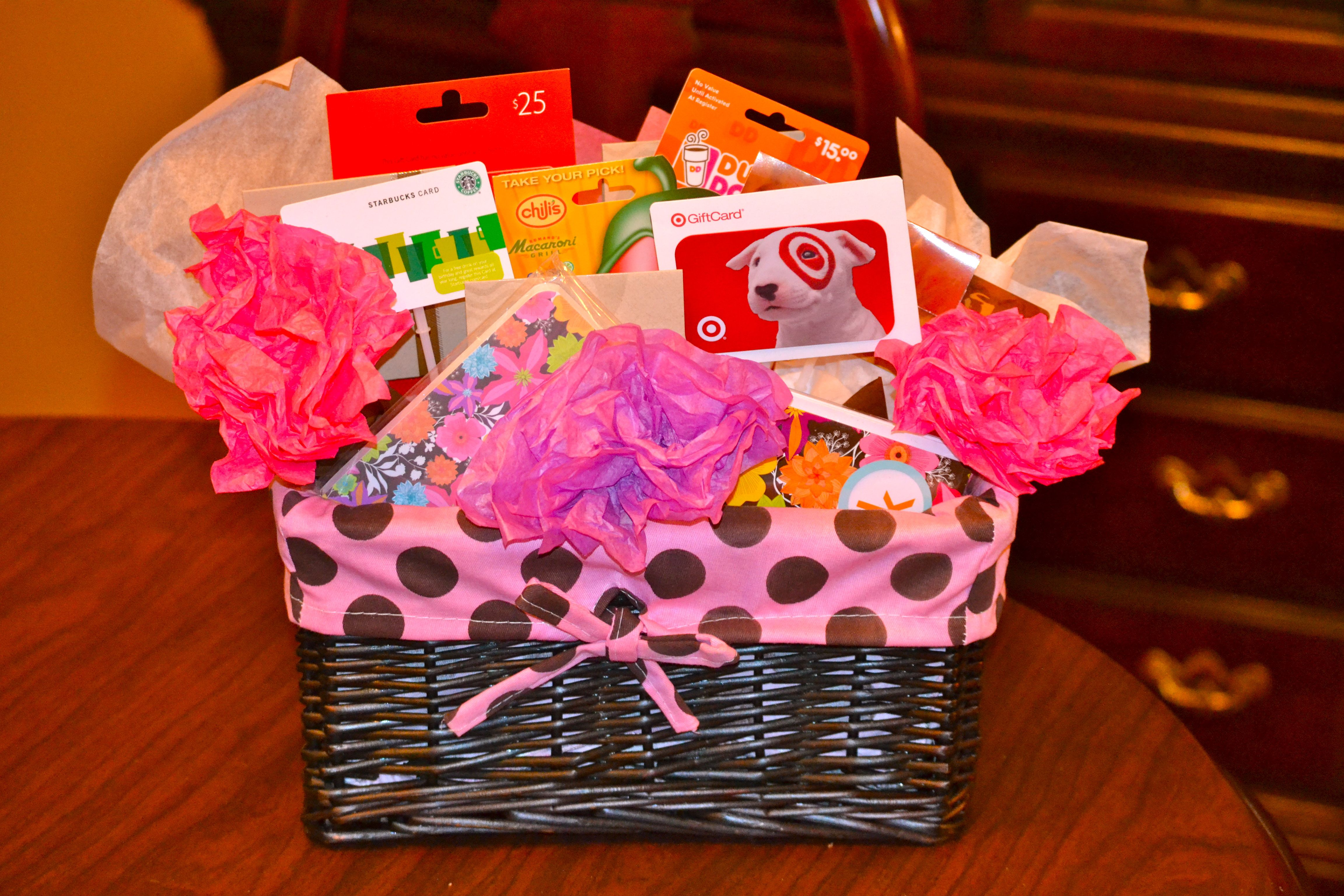 Gift Card Basket For Teacher Appreciation School Projects Gift