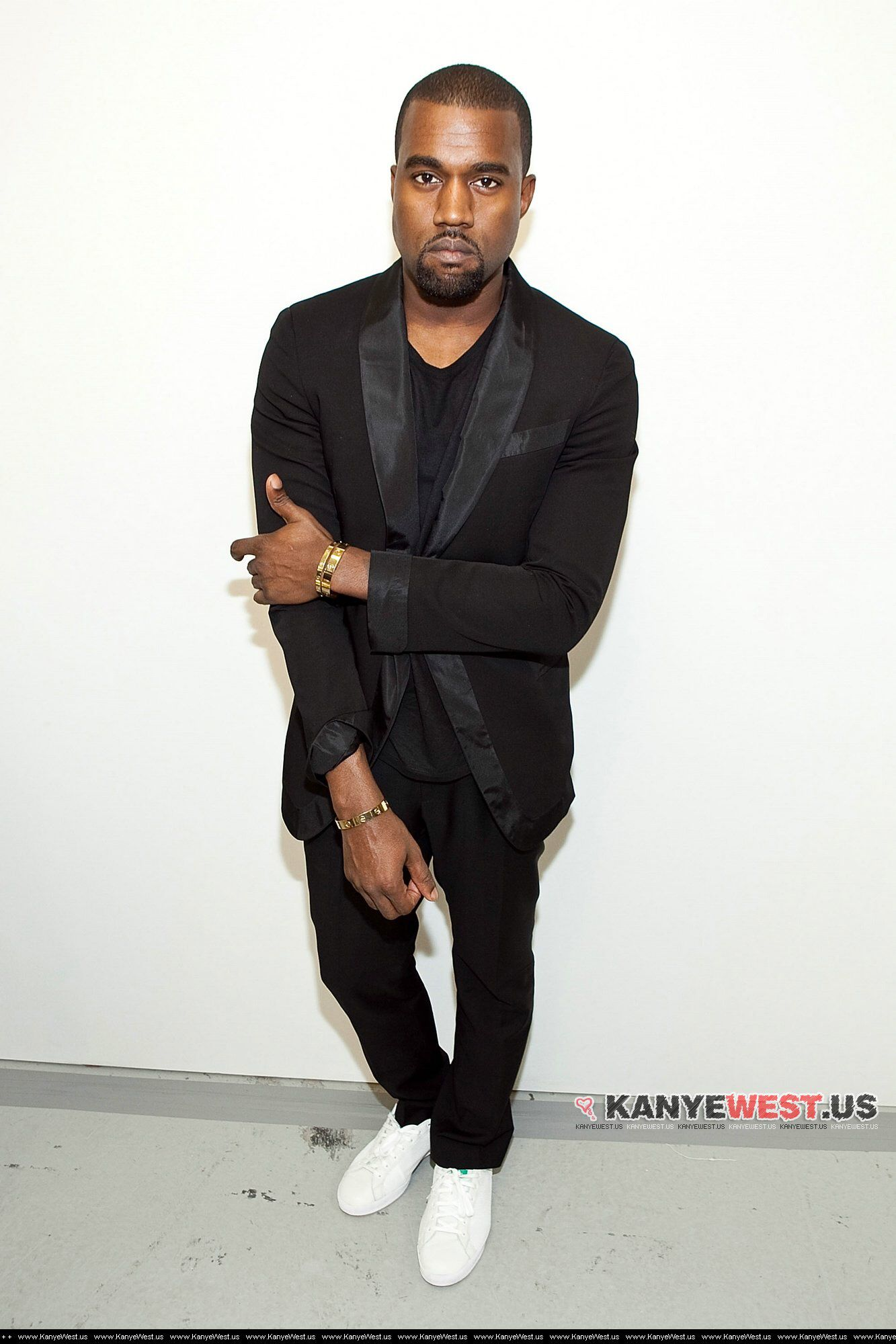 Kanye On Stan Smith With Tuxedo Jacket