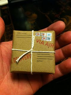 Tiny Mail Package For A Birthday Gift