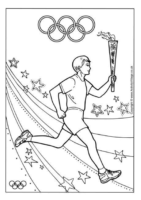 Olympic Torch Relay Colouring Page Cizimler Sanat Projeleri Sanat
