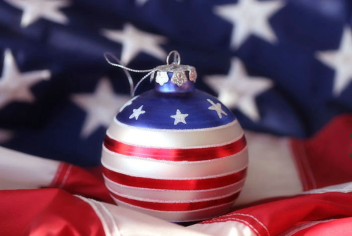 Patriotic Christmas Ornaments.Patriotic Christmas Ornament Red White And Blue Usa