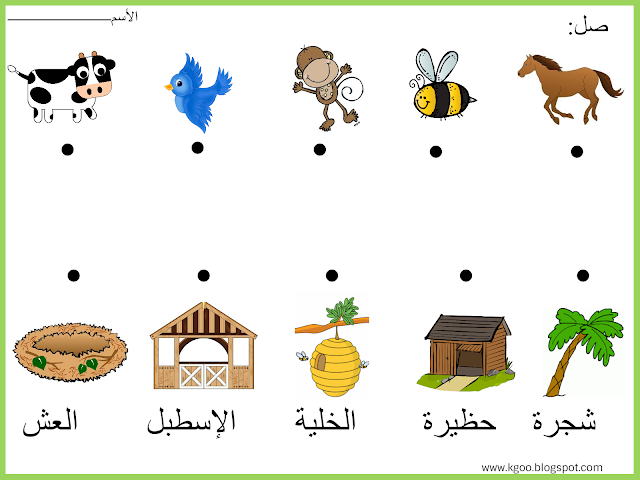 Animals And Their Homes Animals And Their Homes Art Drawings For Kids Arabic Alphabet For Kids