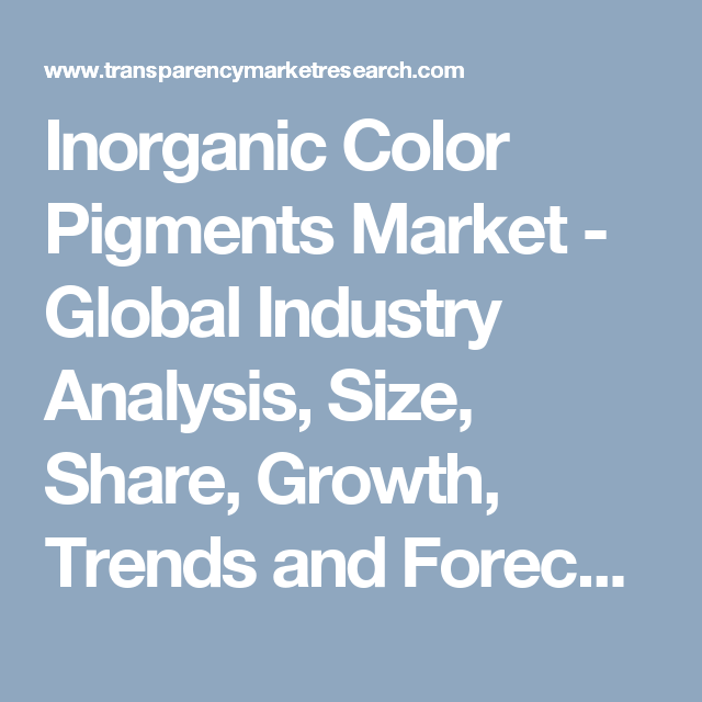 Demand For Inorganic Pigments Is Seen To Be Declining In Western