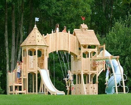 Cool swing set. Kids fun | Playhouse | Pinterest | Muebles de jardín ...