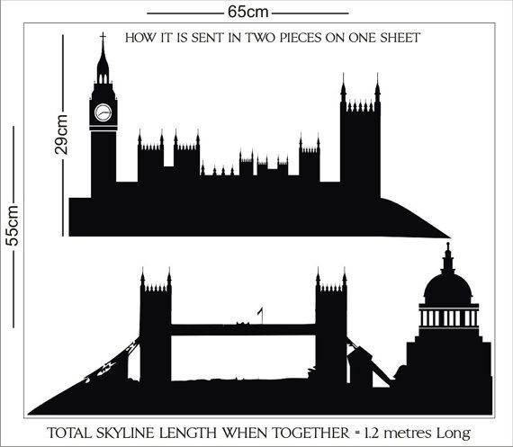 Simple London Skyline Silhouette