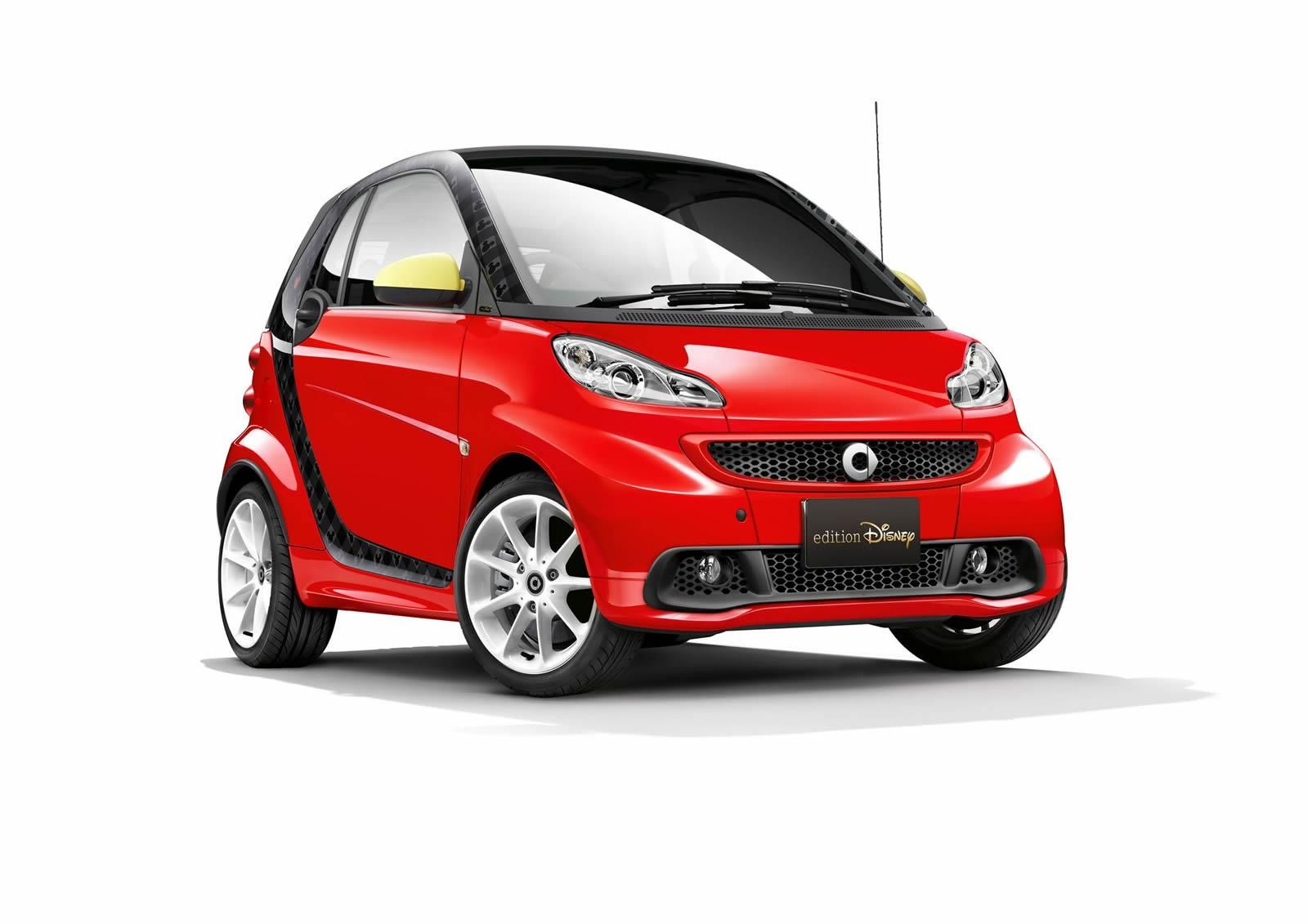 Smart has produced for the japanese market only the disney edition of the fortwo electric