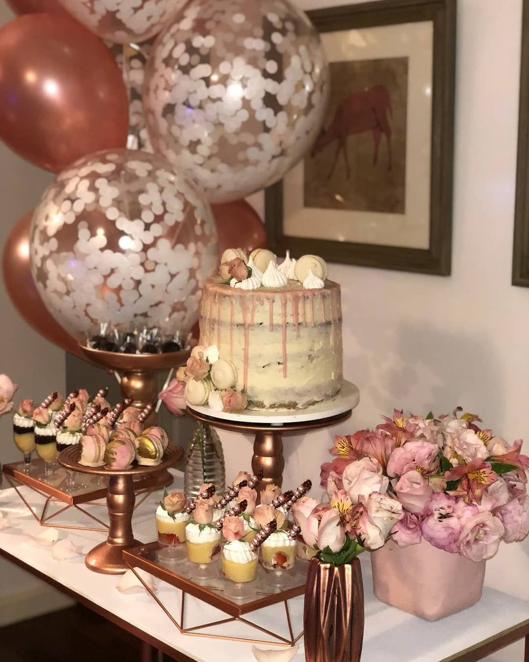 Rose Gold Quinceanera Inspiration For Your Quince Mi Padrino Rose Gold Party Theme Rose Gold Party Rose Gold Theme