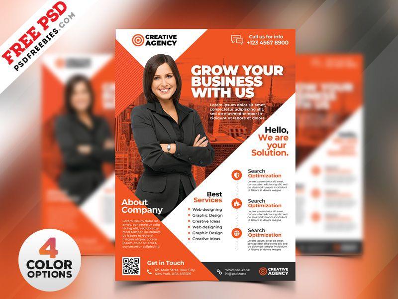 Business Flyer Design Templates Psd Panfleto Impressos