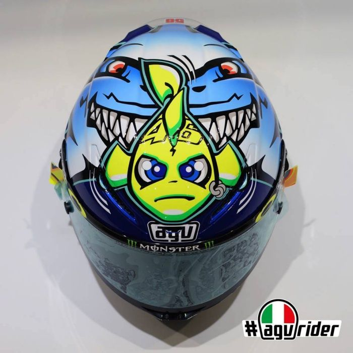 agv corsa valentino rossi shark helmet misano 2015 pinterest. Black Bedroom Furniture Sets. Home Design Ideas