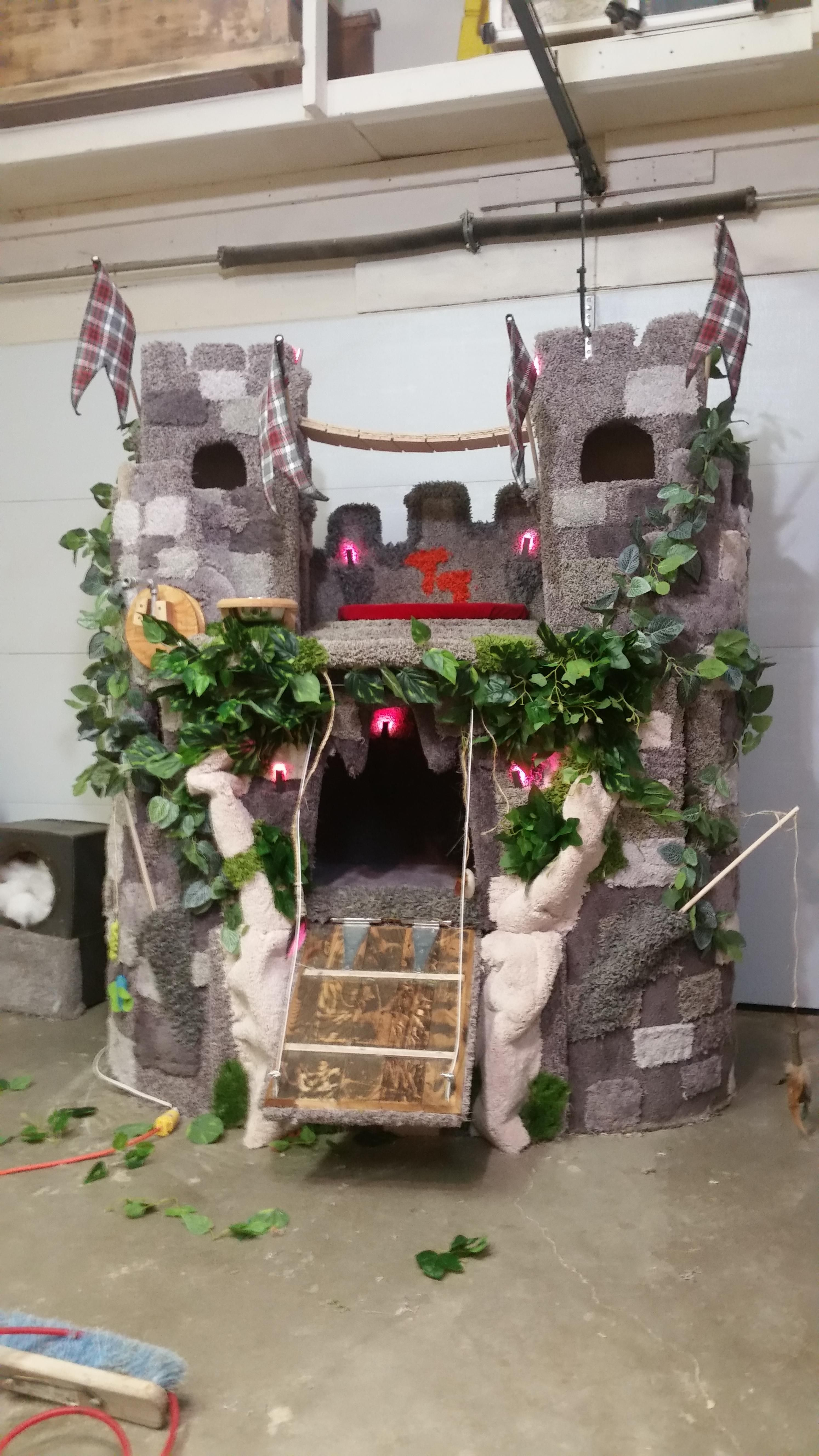 Cat Castle Cat condo We made from 95 percent reclaimed and