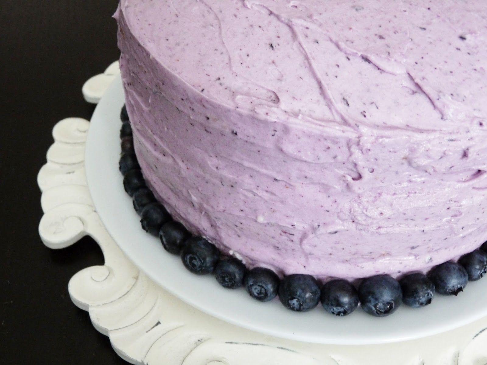 Gâteau de fête aux bleuets
