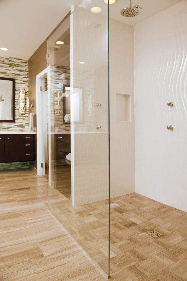Starfire extra clear glass was used for the bathroom shower doors ...