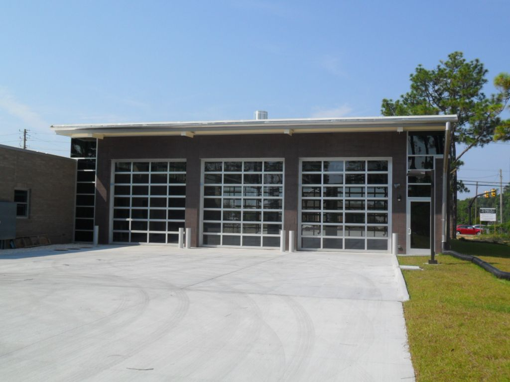 Empie Park Fire Department Glass Roll Up Doors Fabricated By Arm R Lite With Exclusively Welded Aluminum Frames