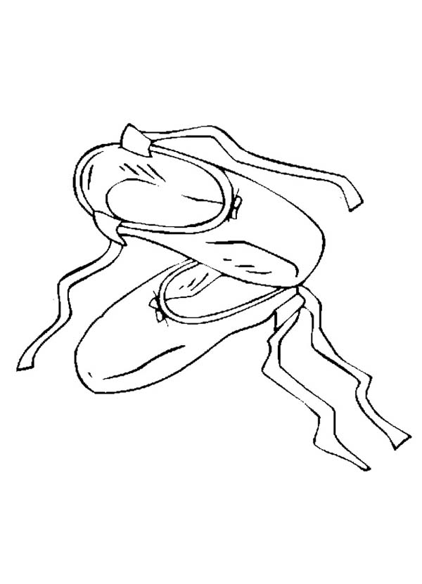 Ballet Shoes Picture Coloring Page : Coloring Sky in 2020 ...