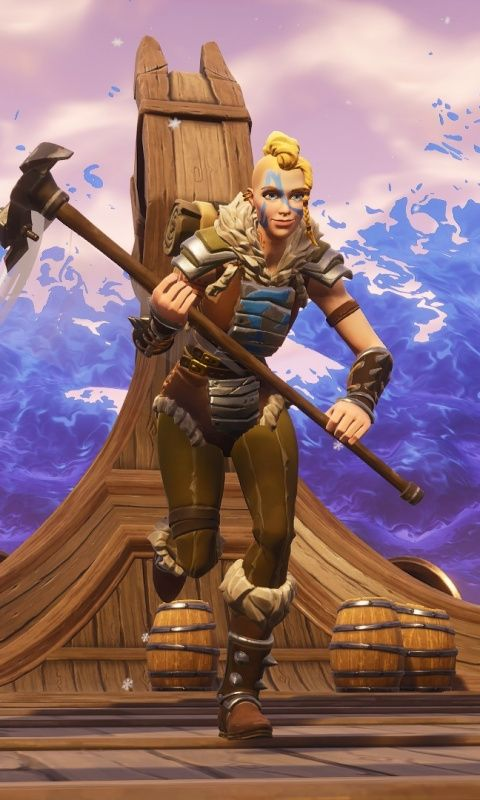Viking Skin, Video Game, Fortnite, 480x800 Wallpaper