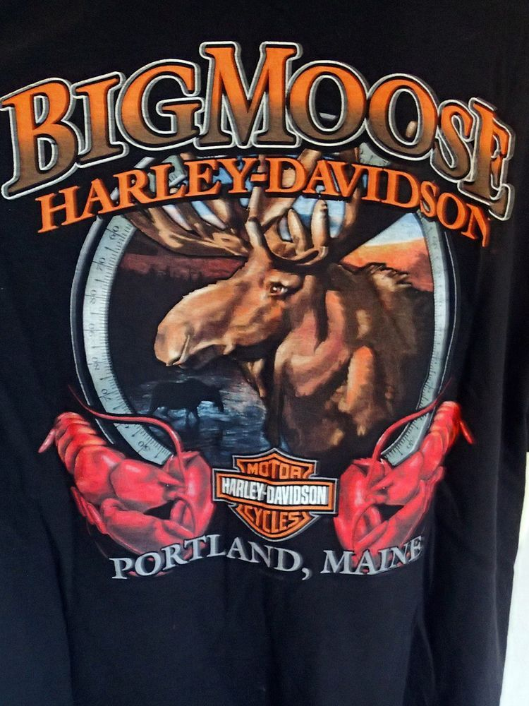 Harley Davidson Portland >> Harley Davidson Motorcycles 2xl T Shirt Big Moose Portland