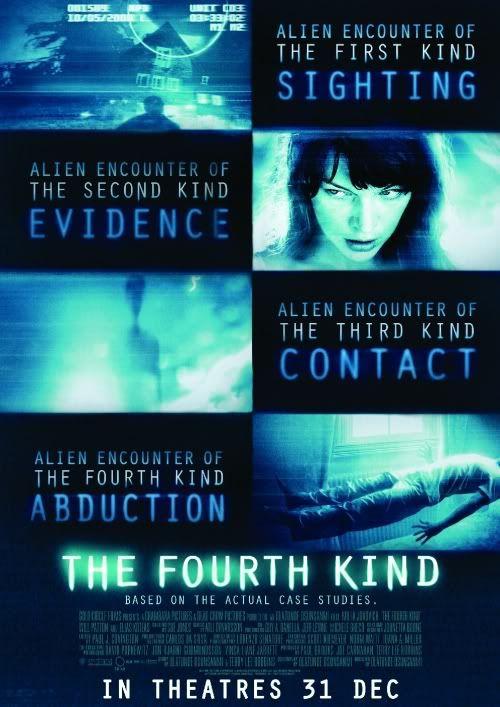 """""""The Fourth Kind"""" o en su título en español """"Cuarto Contacto"""". Una estupenda historia basada en hechos reales, veanla."""
