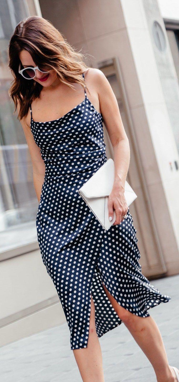 Summer Slip Dress Summer Slip Dress Polka Dress Bad Girl Clothes [ 1602 x 751 Pixel ]