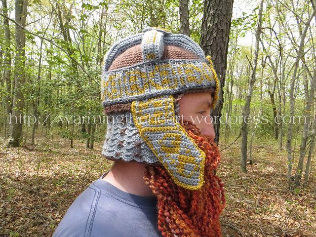 4020e87aa8f Ravelry  Gimli Inspired Helmet and Beard LOTR pattern by Rebekah Bowers